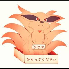 I have no idea what it says but it's cute #kurama
