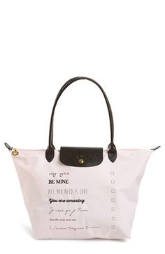 Longchamp 'Large Le Pliage - Valentine' Nylon Tote available at #Nordstrom