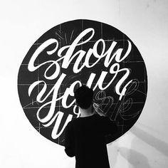 Fantastic mural by @meegggii - #typegang - typegang.com | typegang.com #typegang #typography