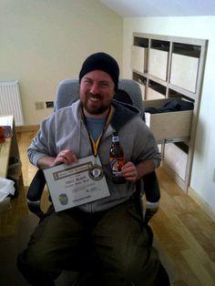 @sheltonbrothers   Matt sporting the Adnams medal from the #Atlanta Cask Ale Tasting!