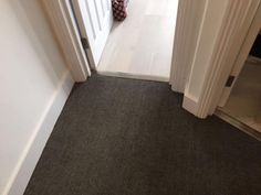 Client: Private Residence In North London Brief: To supply & install grey striped carpet to stairs Grey Striped Carpet, North London, Grey Stripes, Tile Floor, Stairs, Flooring, Home Decor, Gray Stripes, Stairway