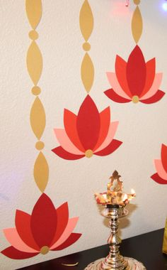 DIY Projects for Diwali - - Hi Readers, It is about a month for the festival of lights and here are some easy and fun projects for this Diwali. DIY Diya painting Diwali Flower Wreath Clay Urli Pot for floating candles and flo…. Ganapati Decoration, Decoration For Ganpati, Indian Decoration, Diwali Diy, Diwali Craft, Diwali Decorations At Home, Festival Decorations, Ethnic Home Decor, Indian Home Decor