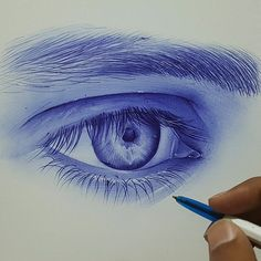 No photo description available. Eye Drawing Tutorials, Drawing Projects, Drawing Techniques, Abstract Pencil Drawings, Colorful Drawings, Art Drawings, Pen Sketch, Art Sketches, Realistic Sketch