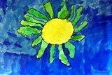 Georgia O'Keefe Watercolor Flowers - Great Kindergarten art project!