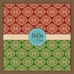 Damask digital paper scrapbook by PeDeDesigns