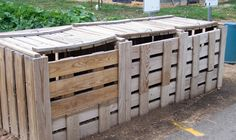 Three chamber compost bin - lots of composting tips
