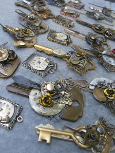 Altered key. I am in love with this idea, so many possibilities! Steampunk look.