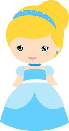 Bonecas Princesas: Branca de Neve, Bela, A Bela Adormecida, Rapunzel e Cinderela com moldes