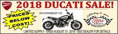 Ducati Sale going on NOW! Get great prices (lower than Cost!) on the 2018 Models! Hurry in to the Baltimore Store- Sale Ends August 31st (which is next Week), and there is a Limited Supply!!!  #Ducati #Sale #LimitedSupply #ShopNow #PetesCycle #Baltimore