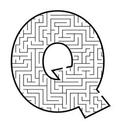 Capital Letter Q Maze Coloring For Kids