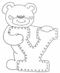 4 Modelos de Alfabeto Completo para Colorir e Imprimir - Online Cursos Gratuitos Felt Patterns, Applique Patterns, Colouring Pics, Coloring Books, Coloring Letters, Alphabet Templates, Embroidery Alphabet, Sewing Appliques, Alphabet And Numbers