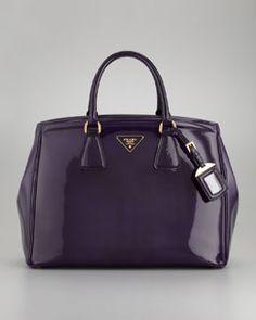 L04XP Prada Spazzolato Large Double-Handle Tote Bag