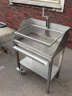 steel charcoal grill