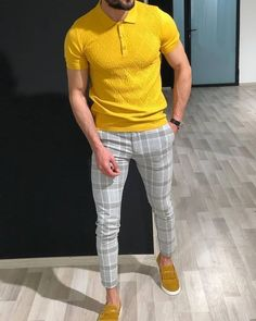 99 Classy Men Ideas With Flat Pants Style is part of Yellow polo shirt - Plaid is now an obsession of the present thanks to the fashionable gods who rule the fashion industry and trends […] Mens Fashion Wear, Best Mens Fashion, Suit Fashion, Fashion Pants, Fashion Menswear, Fashion Edgy, Fashion Shirts, Cheap Fashion, Menswear Trends