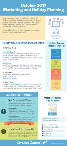 [Infographic] October 2017 Marketing and Holiday Planning Email Marketing Design, Social Media Marketing Business, Inbound Marketing, Content Marketing, Internet Marketing, Digital Marketing, Social Media Cheat Sheet, Advertising And Promotion, Email Campaign