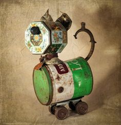 Assemblage Reclaimed Items Found Objects Handcrafted by channa01, $115.00