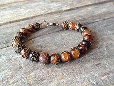 Agate Bracelet Handmade Jewelry Hippie by TheHippieBohemian, $35.00