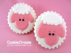 CookieCrazie: Springtime Faces Cookie Collection: Lambs (Tutorial)