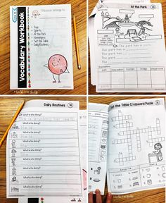 Independent Classroom Activities for Newcomers English Language Learners, Language Arts, Student Work, Classroom Activities, Teaching English, School Days, Vocabulary, Study, Studio