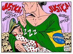 Charge p/FISENGE: O Estado Brasileiro e os torturadores da ditadura militar... by @CarlosLatuff