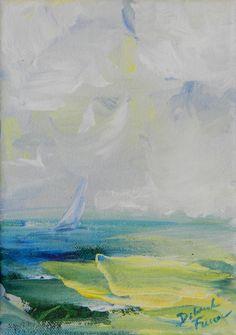 FLORIDA SAIL. Original Acrylic Painting on Canvas. Original available through my Etsy website.  DeborahFerreeArtCafe.