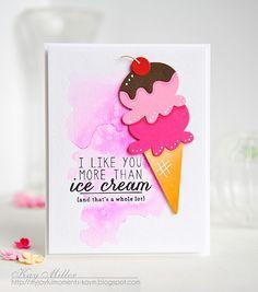 Love and Ice Cream: Reverse confetti, ice cream, My Joyful Moments
