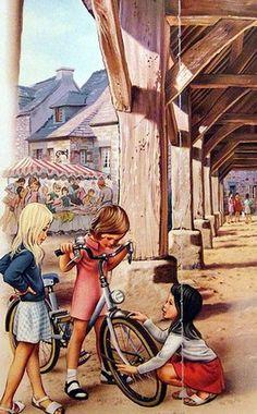 Martine en bicyclette