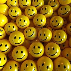 All the smiley yellow faces. They can kill anyone's sour mood.