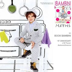New Editorial on Book Bambini! Polka suit and hat! #MythsKids