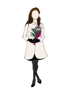 Duchesse de Cambridge Kate Middleton grossesse impression 8,5 « x 11 » chèvre robe Fashion