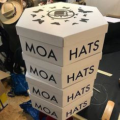 Hat boxes are here! Hat Boxes, Box Packaging, Slow Fashion, Container, Instagram, Toys, How To Make, Activity Toys, Clearance Toys