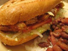 Fried Chicken Po'boy Sandwich