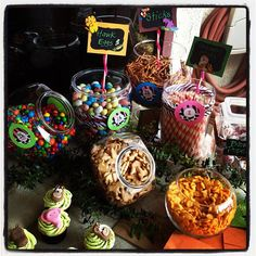 Jungle candy table,  Created by: Melody Events