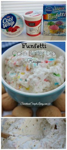 Funfetti Cake Batter Dip Recipe to die for. I may make this after a long day lol