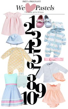 feec46ab6b9 We love Pastels for baby girls   boys! Pret a Pregnant - For fashion mom  and mini