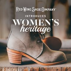 The wait is over. Introducing indispensable footwear for independent women. Leather footwear. Made in USA. Now available online and at select retailers in North America and Europe. #redwingwomen #redwingheritage