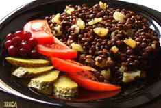 Pineapple Lentils.  I like adding some ginger and serve on top of rice. Sometimes I add mushrooms as well.