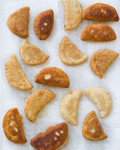 Fried apple pies with vanilla and bourbon