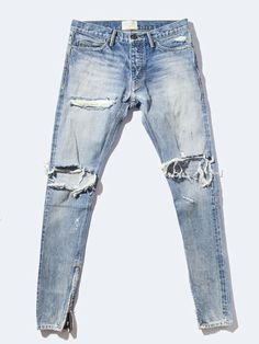 MensJeans Mens Skinny Ripped Jeans e4fdafb7c195