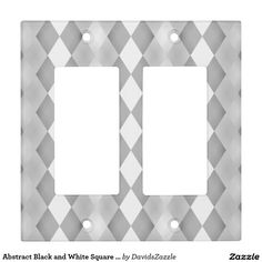 Abstract Black and White Square Pattern Light Switch Cover  Available on more products! Type in the name of the design in the search bar on my Zazzle Products Page. Thanks for looking!  #abstract #pattern #rectangle #square #black #white #grey #gray #buy #sale #zazzle #art #digital #style #life #lifestyle #accessory #accent #chic #contemporary #modern #light #switch #cover #remodel #renovate