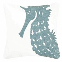 Water's Edge Seahorse Rice Stitch Pillow