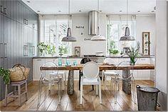 case e interni - stile scandinavo in polonia, kitchen, table, dining room