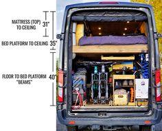 Van Conversion Bike, Diy Van Conversions, Van Conversion Interior, Build A Camper, Diy Camper, Bike Storage In Van, Ford Transit Camper, Van Living, Bike Rack