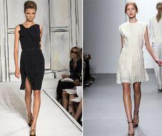 little black dress and little white dress