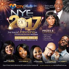 Bishop Joel Peebles' City of Praise New Year's Eve Celebration Free Groceries, New Year's Eve Celebrations, Church News, New Years Eve, Celebrity News, City, Celebrities, Cards, Pastor