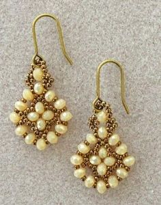Linda's Crafty Inspirations: Free Mini Tutorial: Easy Earrings Variation by lucile