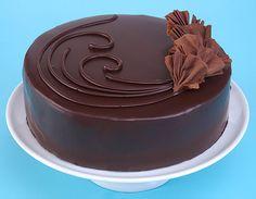 chocolate-ganache my favoritest ever GANACHE and it's a sleek simple cake design!! I want