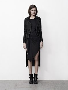 crazy perfect... the dress, the jacket, the boots... all saints spring 2013