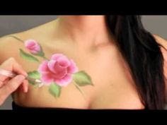 Roses by Jinny ** FACE PAINTING/body painting - MAQUILLAGE POUR ENFANTS
