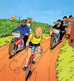Tintin - wearing the yellow jersey!